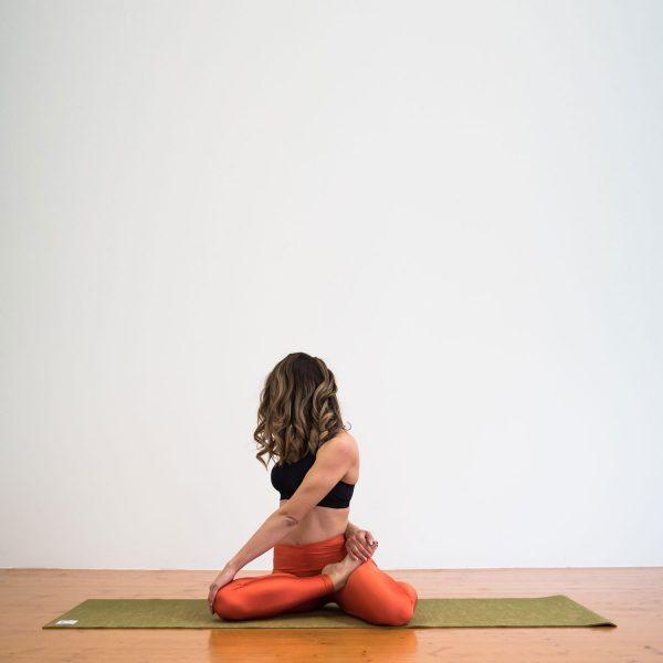 Salachi Hemp Yoga mat (Moss Green)
